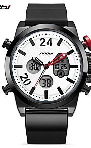 SINOBI Homens Relógio Esportivo Relógio Casual Relogio digital Japanês Digital LED Calendário Impermeável Dois Fusos Horários