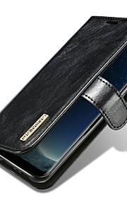 Custodia Per Samsung Galaxy S8 Plus S8 Porta-carte di credito Con chiusura magnetica A calamita Integrale Tinta unica Resistente Vera