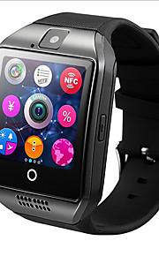 hhy q18 relógio inteligente com touch screen camera tf card for android ios