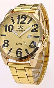 Homens Quartzo Relógio de Pulso Chinês imitação de diamante Lega Banda Casual Relógio Elegante Elegant Fashion Dourada