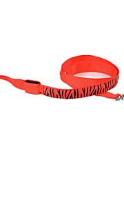 Hond Lijnen Veiligheid Zebra Textiel Binnenwerk Geel Rood Groen Blauw Roze