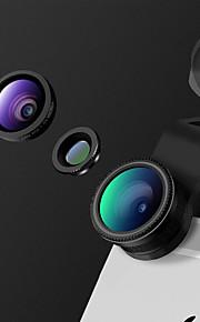 lentes de câmera de smartphone heyang lente de grande angular 0.65x lente de olho de peixe de lente macro de 10x para ipad iphone huawei