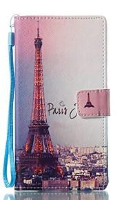 Etui Til Sony Lommebok Kortholder med stativ Flipp Mønster Magnetisk Heldekkende Eiffeltårnet Hard Kunstlær til Sony Xperia L1