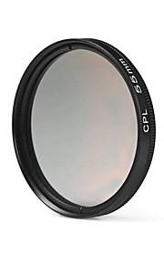 55mm cpl filterlins til Nikon Canon Sony DSLR kamera - sort