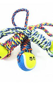 Chien Jouet pour Chien Jouets pour Animaux Jouets de mastication Tennis Coton Pour les animaux domestiques