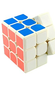 Rubiks terning Let Glidende Speedcube 3*3*3 Gennemsigtig klistermærke Professionelt niveau Kontor Skrivebord Legetøj Anti-pop Magiske