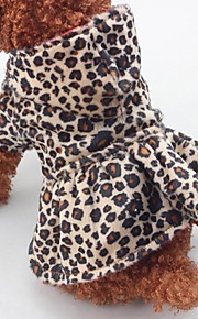 Dog Clothes Cotton Spring/Fall Winter One Piece Keep Warm Christmas Leopard Leopard For Pets