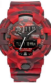 Homens Relógio Esportivo Chinês Digital Calendário Cronógrafo Impermeável alarme Cronômetro PU Banda Vermelho Cinza Cáqui