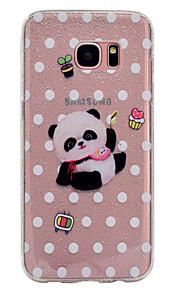 Funda Para Samsung Galaxy Transparente Diseños Cubierta Trasera Brillante Oso Panda Suave TPU para S8 S8 Plus S7 edge S7 S6