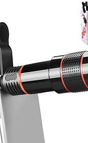 lente da câmera do telefone celular orsda® 12x zoom telefoto universal clip no kit de lente para iphone 7 / 6s / 6 plus / 5 / 4samsung
