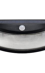 1pcs solenergi lys bevegelsesdeteksjon 8 ledet vanntett utendørs smilende vegg lys trådløst sikkerhet trinn natt lamper-svart