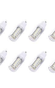8pcs 2W GU10 LED-kornpærer T 36 leds SMD 5730 Hvit 180lm 6000-6500K AC 110-130V
