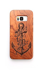 For Case Cover Shockproof Pattern Back Cover Case Anchor Hard Wooden for Samsung Galaxy S8 Plus S8 S7 edge S7 S6 edge plus S6 edge S6 S6