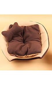 Gato Cachorro Camas Animais de Estimação Capachos e Alcochoadas Estampa Colorida Portátil Dobrável Macio Café Vermelho Para animais de