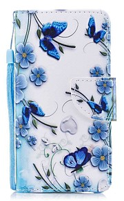 Case For Apple Ipod Touch5 / 6 Case Cover Card Holder Wallet with Stand Flip Pattern Full Body Case  Magic Butterfly Hard PU Leather