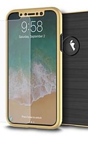 Protector de pantalla para Apple iPhone X Vidrio Templado 1 pieza Protector de Pantalla Frontal Alta definición (HD) Dureza 9H Borde