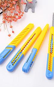 1 stk plaststuderende kunstkniv papir kutter kontor forsyning skjæreverktøy