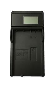Ismartdigi BP208 LCD USB Camera Battery Charger for Canon BP208 BP308 BP315 Battery - Black