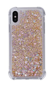 Case For Apple iPhone X iPhone 8 Shockproof Flowing Liquid Back Cover Glitter Shine Soft TPU for iPhone X iPhone 8 Plus iPhone 8 iPhone 7