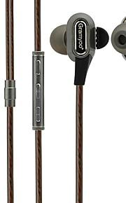 x68 dans l'oreille casque filaire dynamique en plastique sport&écouteurs de fitness isolant le bruit avec micro-casque