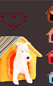 Gato Cachorro Camas Animais de Estimação Capachos e Alcochoadas Sólido Riscas Quente Portátil Dobrável Macio Amarelo Café Para animais de