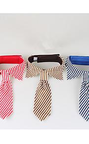 Hund Krawatte/Fliege Hundekleidung Lässig/Alltäglich Streifen Kaffee Rot Blau Kostüm Für Haustiere