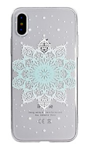 Case For Apple iPhone X iPhone 8 Transparent Pattern Back Cover Mandala Soft TPU for iPhone X iPhone 8 Plus iPhone 8 iPhone 7 Plus iPhone