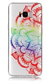 케이스 제품 Samsung Galaxy S8 Plus S8 울트라 씬 투명 패턴 엠보싱 텍스쳐 뒷면 커버 만다라 소프트 TPU 용 S8 Plus S8 S7 edge S7