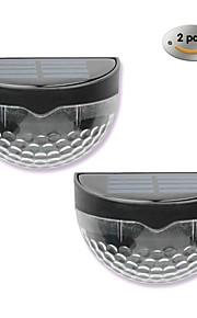 New Solar Lights 6LED Solar Wall Lamp Outdoor LED Semi-Circular Fence Lamp Garden Lawn Lamp 2PCS