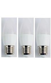 5pcs 4W E27 LED-globepærer C35 6 leds SMD 3528 Varm hvit 300lm 3000K AC 110-240V