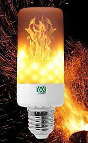 YWXLIGHT® 6W 550-600lm E14 E27 E12 B22 LED-lampa T 99 LED-pärlor SMD 3528 Bimbar Flame Flickering Dekorativ Varmvit 85-265V
