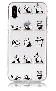Custodia Per Apple iPhone X iPhone 8 Ultra sottile Transparente Decorazioni in rilievo Fantasia/disegno Custodia posteriore Panda Morbido
