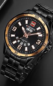 Homens Relógio Militar Relógio de Pulso Relogio digital Chinês Quartzo Calendário Cronógrafo Impermeável Noctilucente Aço Inoxidável Banda