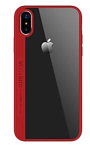 Funda Para Apple iPhone X iPhone 8 Ultrafina Transparente Cubierta Trasera Color sólido Dura Fibra acrílica para iPhone X iPhone 8 Plus