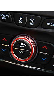 Automotivo Botão de controle de ar Gadgets de Interior Personalizáveis para Carros Para Jeep Todos os Anos Cherokee liga de alumínio