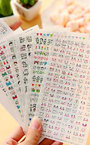 6 stk / sett tegneserie dagbok klistremerke telefon klistremerke utklippsbok klistremerker