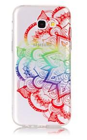 ケース 用途 Samsung Galaxy A5(2017) A3(2017) 超薄型 クリア エンボス加工 パターン バックカバー 曼荼羅 ソフト TPU のために A5(2017) A3(2017)