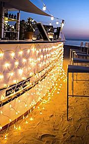 96 leds 1.5m x 1.5m ledet nettstrenglampe 8 moduser for julen bryllupsferie dekorasjon