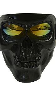 plástico, halloween, protetor, crânio, esqueleto, máscara, ao ar livre, rosto cheio
