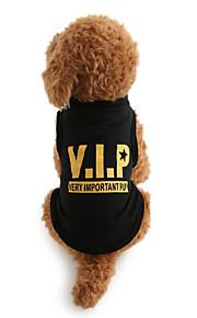 Hund T-shirt Hundekleidung Buchstabe & Nummer Schwarz Baumwolle Kostüm Für Haustiere