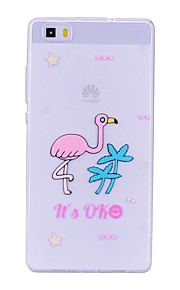 Case For Huawei P8 Lite (2017) P10 Lite Transparent Pattern Back Cover Flamingo Soft TPU for Huawei P10 Lite Huawei P9 Lite Huawei P8