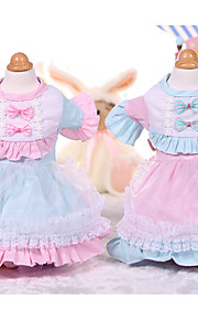 Dog Dress Dog Clothes Casual/Daily Princess Pink Blue