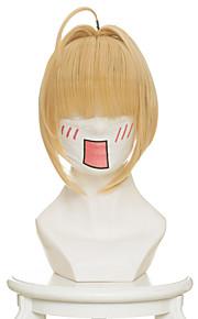 Peruki Cosplay Fate/zero Nero Claudius Anime Peruki Cosplay 45 CM Włókno termoodporne Kobieta