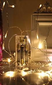 Vandtæt. 40 lysdioder 4M String Light Varm hvid Kold hvid Grøn Rød Blå Dekorativ Jul bryllup dekoration Vekselstrøm Batterier Powered