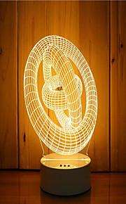 1 סט של 3D מצב הרוח לילה יד קלה מרגיש dimmable USB מופעל מתנה טבעת מנורה
