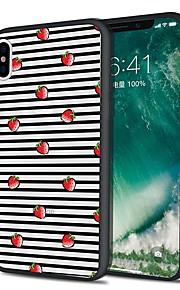 Custodia Per Apple iPhone X iPhone 8 Plus Fantasia/disegno Custodia posteriore Frutta Morbido TPU per iPhone X iPhone 8 Plus iPhone 8