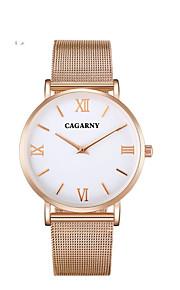 Homens Casal Relógio Casual Relógio de Moda Chinês Quartzo Impermeável Aço Inoxidável Banda Casual Elegant Prata Ouro Rose