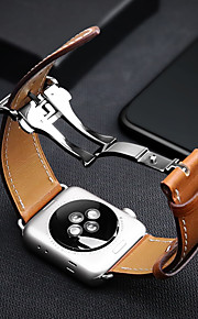 Watch Band for Apple Watch Series 3 / 2 / 1 Apple Butterfly Buckle Genuine Leather Wrist Strap