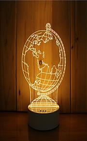1 sæt 3d stemning nat lys hånd følelse dæmpbar usb powered gave lampe kloden