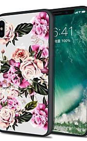 Custodia Per Apple iPhone X iPhone 8 Plus Fantasia/disegno Custodia posteriore Fiore decorativo Morbido Similpelle per iPhone X iPhone 8